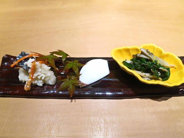 大根寿し,蕪,金沢春菊と舞茸のトンブリ和え 1_edit