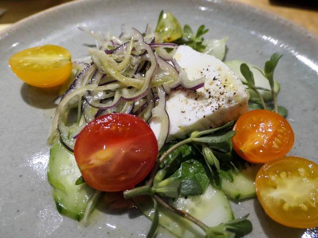 フレッシュリコッタチーズ,紫蘇とトマトのサラダ 2_edit