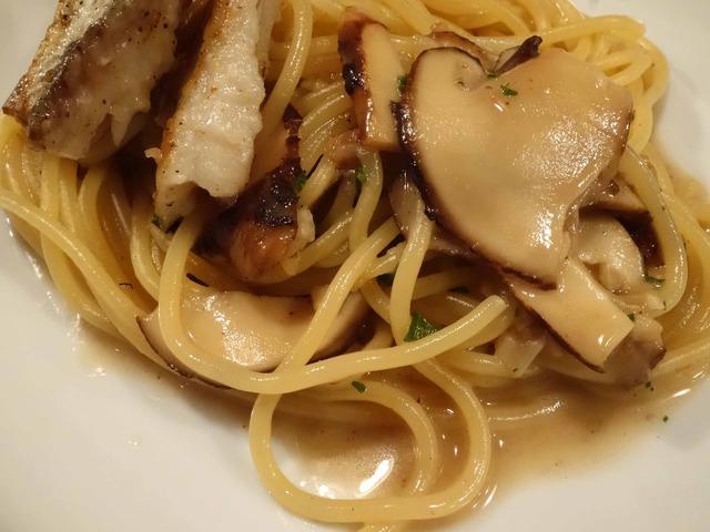 松茸と太刀魚のアリオ・オリオ・スパゲティー 4_edit