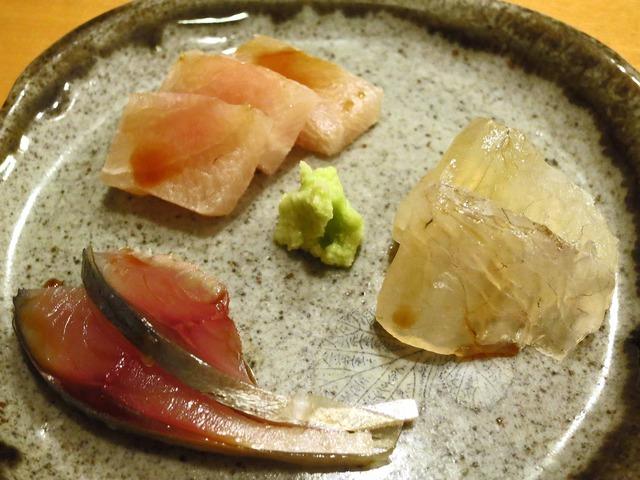 シロカワカジキ,サバ,ヒラメの昆布締め 2_edit