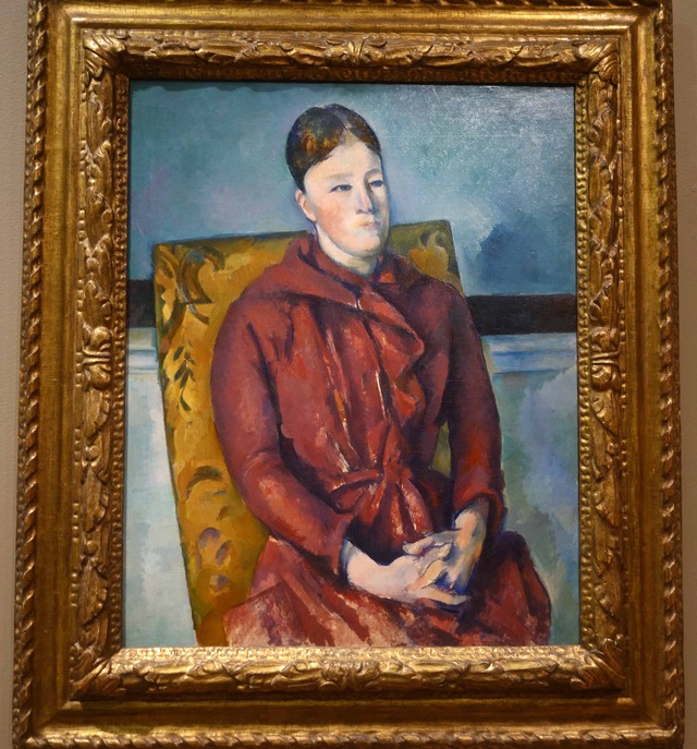 セザンヌ 『黄色の椅子に座ったセザンヌ夫人』_edit