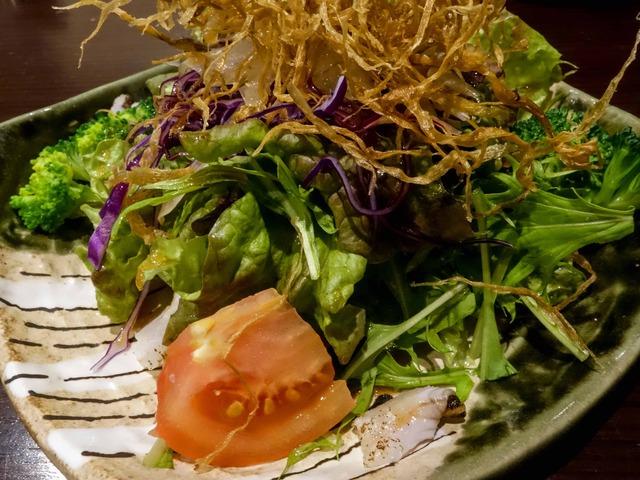 穴子と牛蒡チップのサラダ(ハーフ) 2_edit