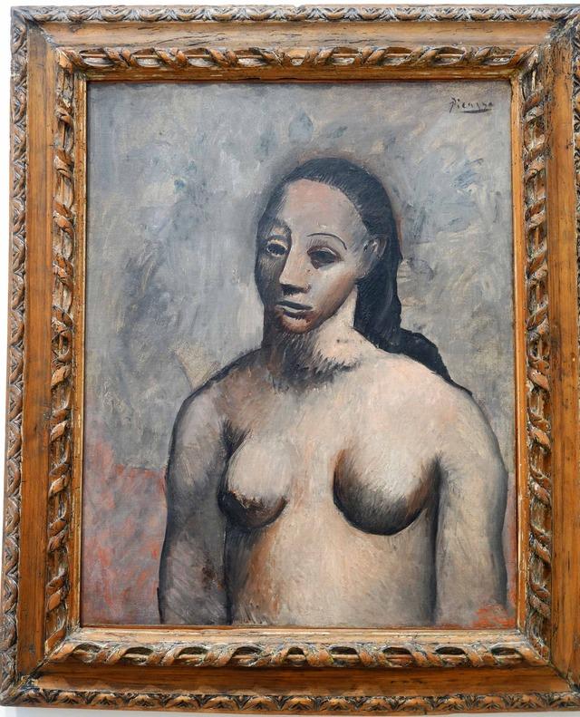 ピカソ 『Half-Length Female Nude』 2_edit
