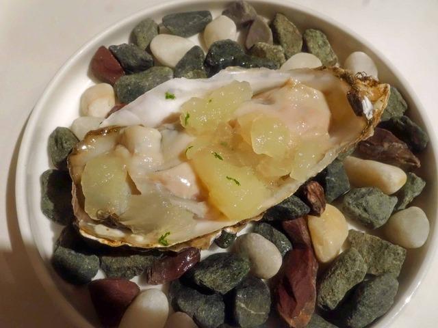 厚岸の生牡蠣とすだちのジュレ 3_edit