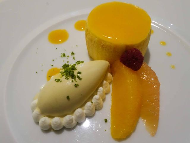 パッションフルーツのムース,カモミールのアイスクリーム 2_edit