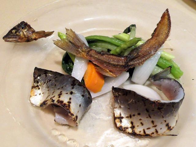 四万十川産天然鮎と季節野菜のサラダ仕立て 1_edit