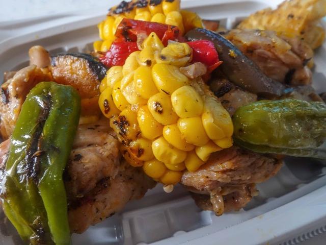 夏野菜と大山地鶏のグリルサラダ 4_edit