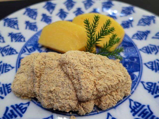 デザート 2_柿とわらび餅_edit