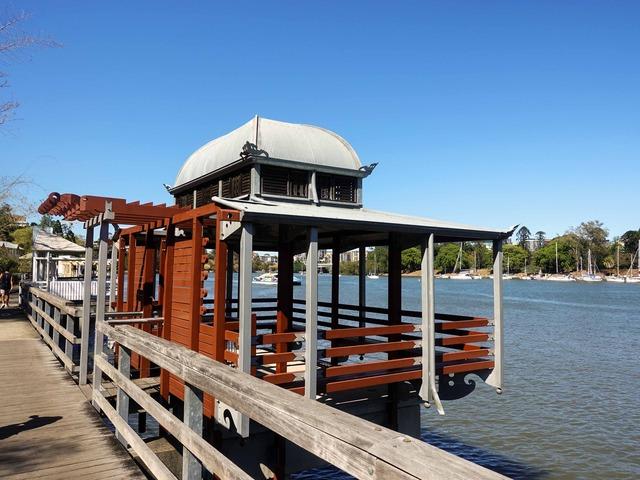 Kangaroo Point Bikeway からブリスベン川を望む 9_edit