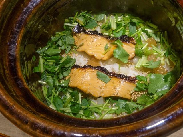 サクラマスと大根,ウドの炊き込みご飯 1_edit