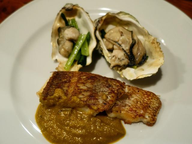 真鯛のムニャイア,牡蠣のコンフィとピュレを添えて 1_edit