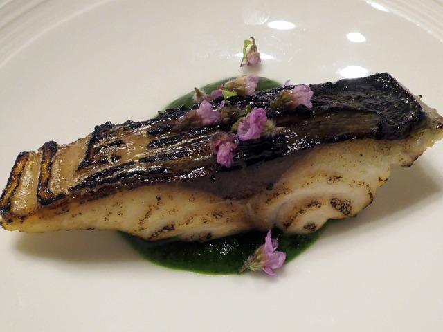 鯖の炙り,春菊のソース 2_edit