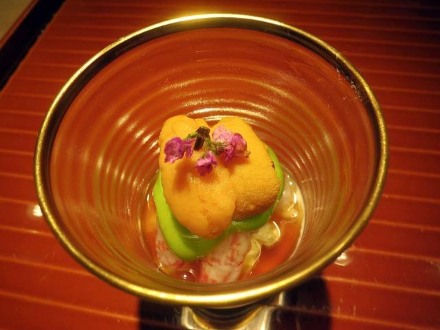 ウニ,うすい豆,シマエビ,汲み上げ湯葉 2_edit