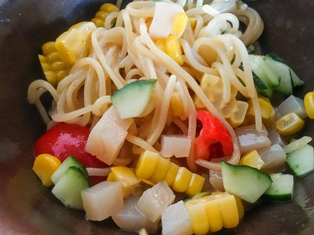 夏野菜と薬味たっぷりの冷やし涼麺 6_edit