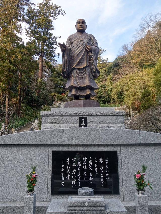 日蓮聖人銅像 2_edit