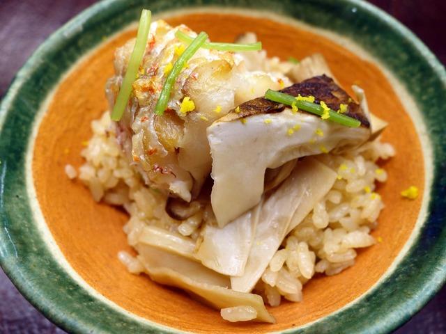 甘鯛と松茸の炊き込み飯 10_edit