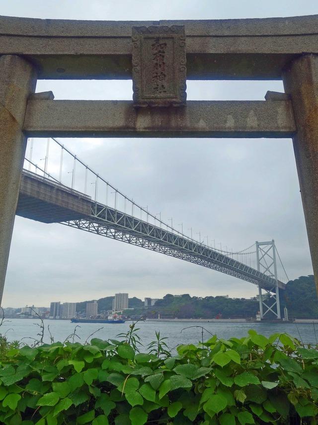 和布刈神社鳥居と関門橋 1_edit