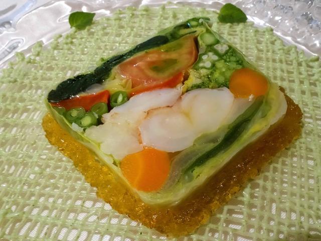 高原野菜とオマール海老のテリーヌ,オレガノ風味 5_edit