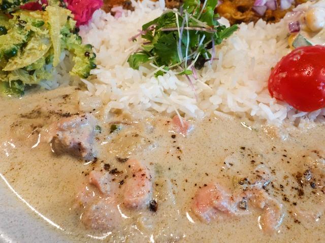 2種盛り(チキンクルマ&夏ごぼうとひよこ豆のキーマカレー) 5_edit