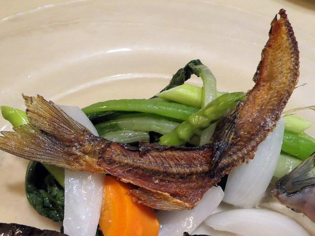 四万十川産天然鮎と季節野菜のサラダ仕立て 5_edit