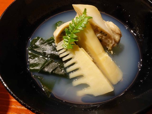 ハマグリ,あおさのりの真薯,ワカメ,タケノコのお椀 1_edit