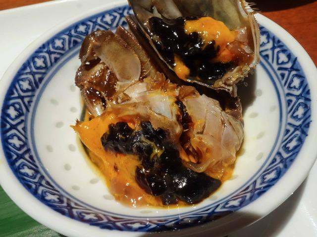 本日の前菜(酔っ払い蟹) 7_edit