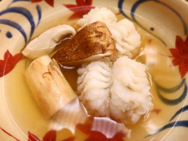 鱧と松茸の鍋 2_edit