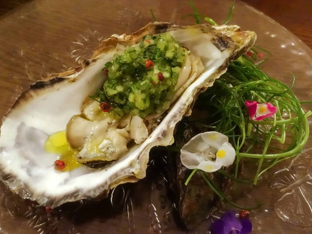 牡蠣のプレコット,キュウリと香草 1_edit