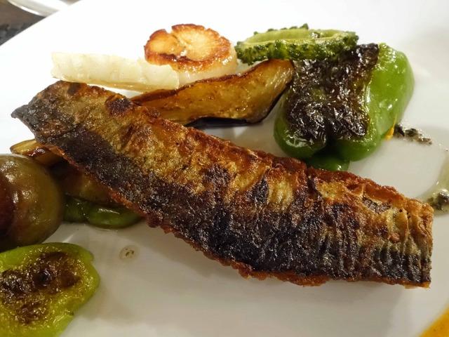 秋刀魚とホタテのポワレ,焼き野菜 5_edit