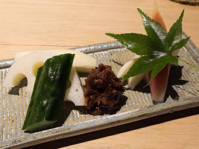 前菜(生野菜,お新香,肉味噌) 3_edit