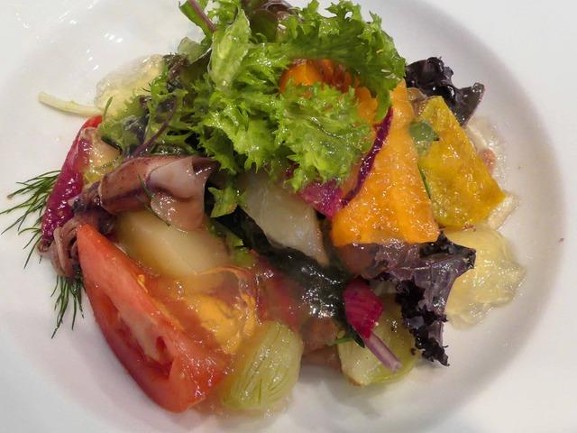 ホタルイカ,フレッシュチーズ,オーガニック野菜のサラダ 1_edit