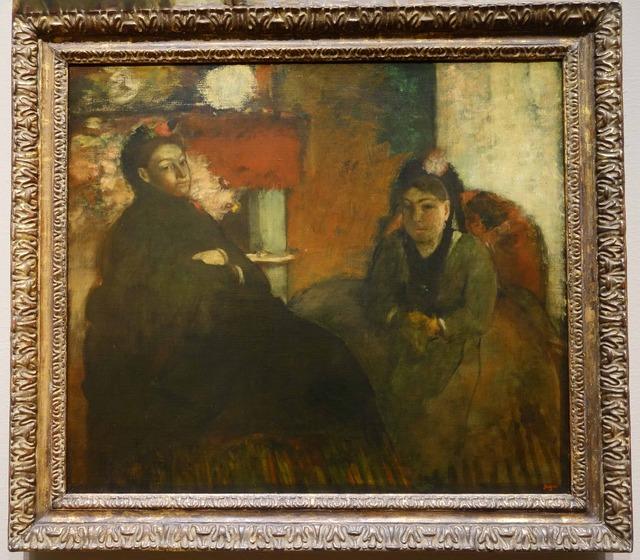 ドガ 『Portrait of Mme Lisle and Mme Loubens』 2_edit