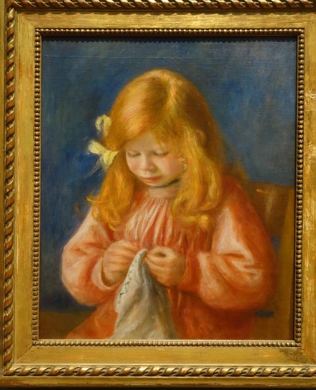 ルノワール 『Jean Renoir Sewing』 2_edit