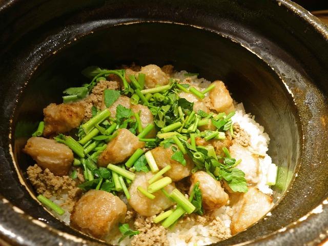 鴨ひき肉と海老芋の炊き込みご飯 1_edit