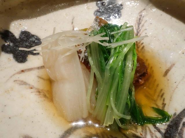 焼き茄子,身欠き鰊,白ずいき,京水菜 2_edit