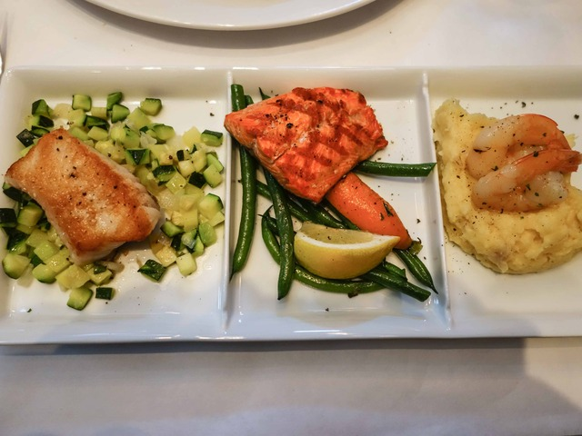 Trio of Fresh Fish (キンムツ,紅鮭,車海老)_edit