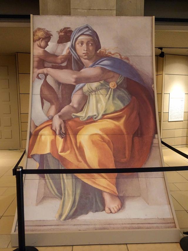 システィーナ礼拝堂天井画『デルフォイの巫女』 2_edit