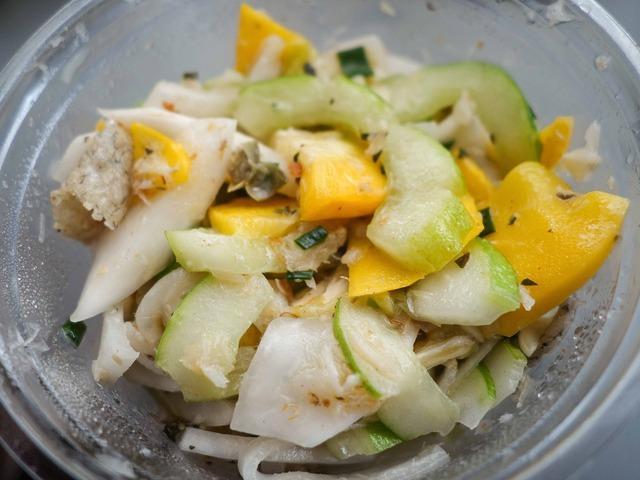 白瓜,コリンキー,カブのサラダ,タラフレーク 2_edit
