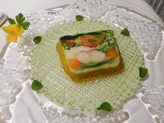 高原野菜とオマール海老のテリーヌ,オレガノ風味 1_edit