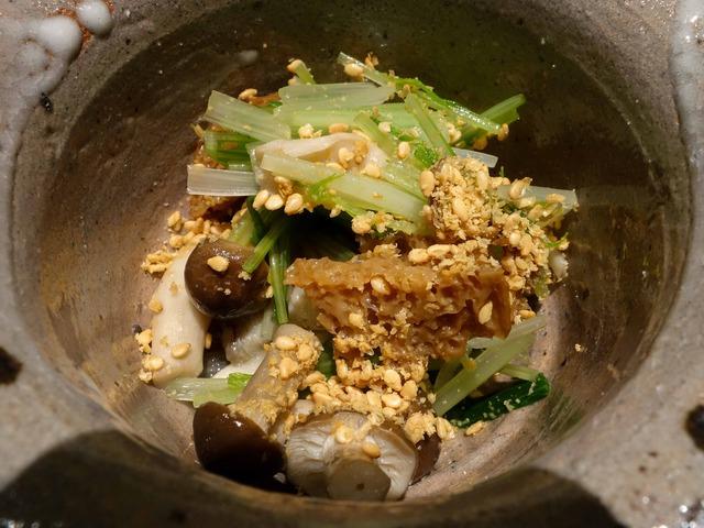 大ぶなしめじ,焼き舞茸,水菜,大徳寺麩のごまびたし 2_edit