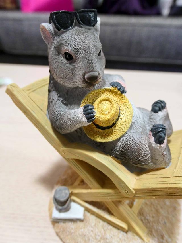 ウォンバットのフィギュア(オーストラリア動物園) 2_edit