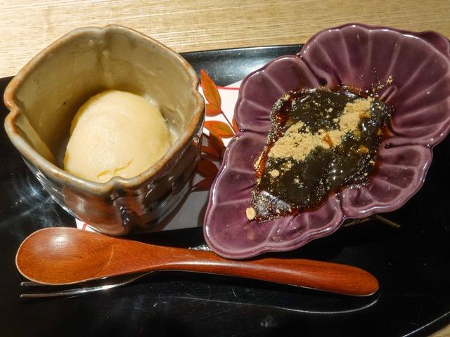 甘味(百合根のシャーベット,わらび餅) 2_edit