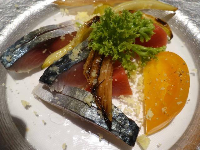 岬サバのマリネ,旬の野菜のマリネ,コンテチーズ 6_edit