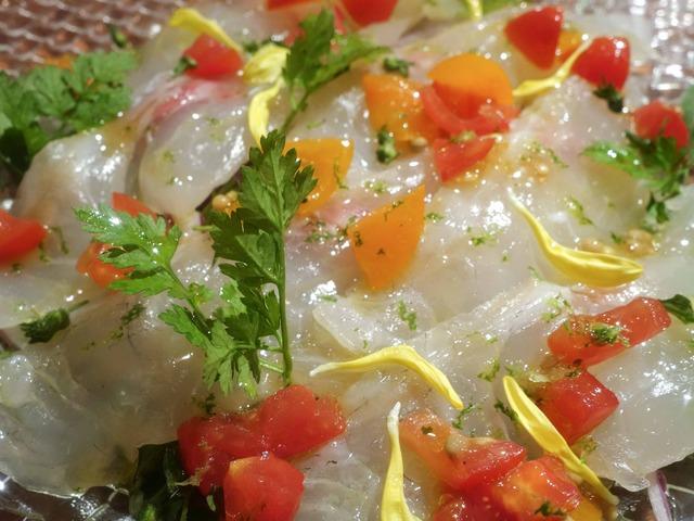 昆布〆真鯛のカルパッチョ,へべすの香り 3_edit