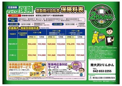 バイク保険-料金表_原付