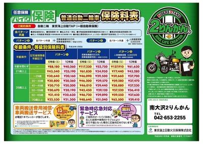 バイク保険-料金表_普通