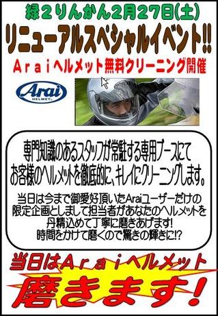 Arai ユーザー限定 ヘルメット クリーニング 緑2りんかん