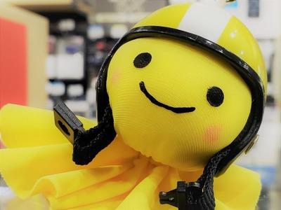 てるぼうに黄色いヘルメット♪