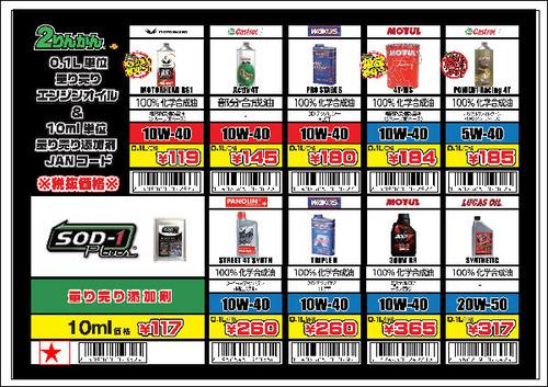 量り売りレジ用コード表★_L