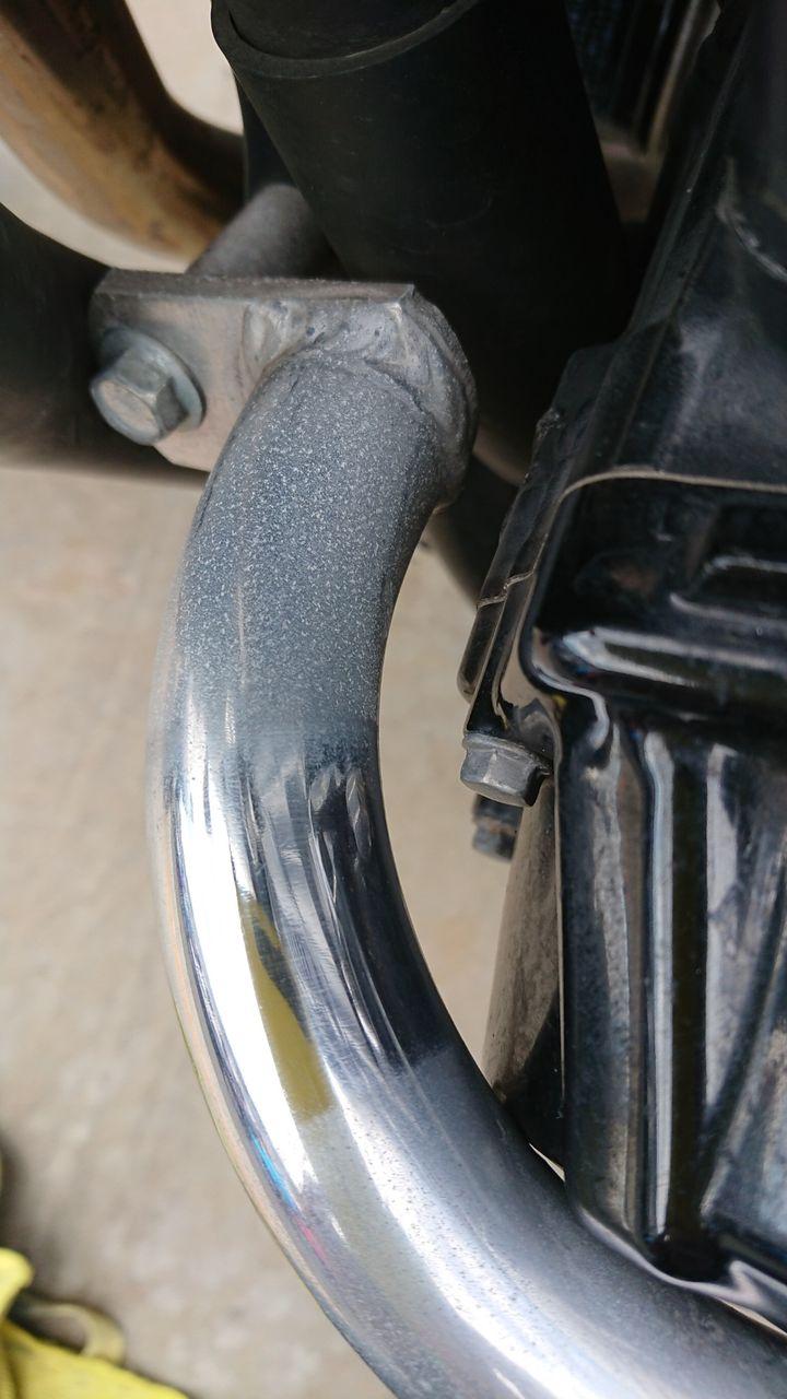 バイク スポーク 磨き